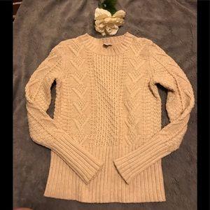 GAP cream cable-knit Crew neck sweater